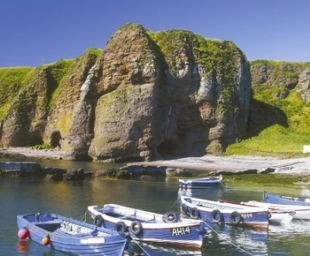 Auchmithie harbour by Arbroath